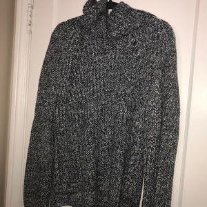 Salt and pepper turtle neck sweater